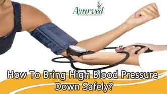 Bringing down blood pressure picture 2