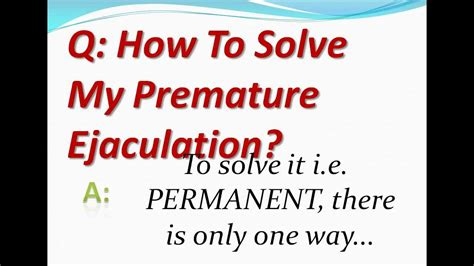 how to solve pre ejaculation picture 1