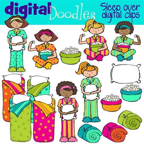 clip art with sleep over partys picture 2