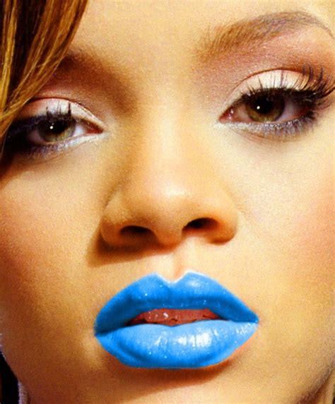 Blue lipstick lips picture 13