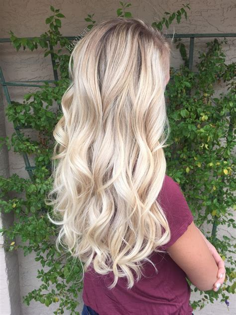 girls pure blonde color hair picture 9