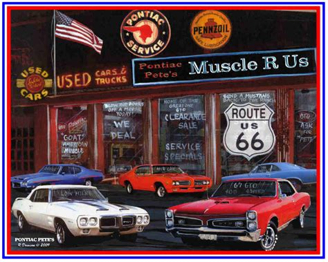 free printable muscle car art picture 9