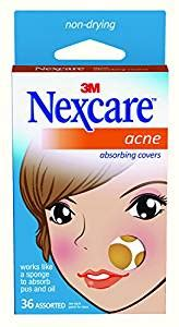 nexcare acne cover, drug-free, gentle, breathable cover, 36 count picture 1