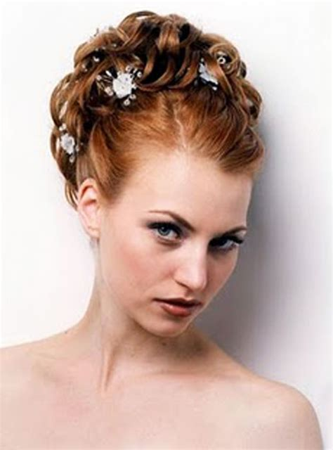 curly frizzie hair updo for wedding picture 11