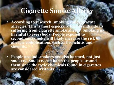 can you be allergic to tobacco smoke picture 8
