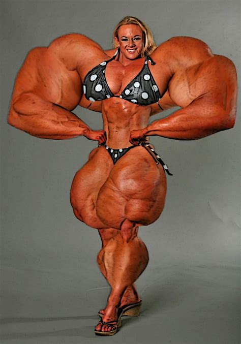 female muscle growth art picture 7