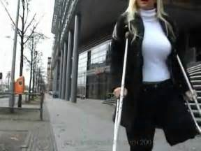 women leg amputee high level on crutches picture 1