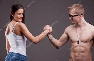 wrestling women vs men picture 1