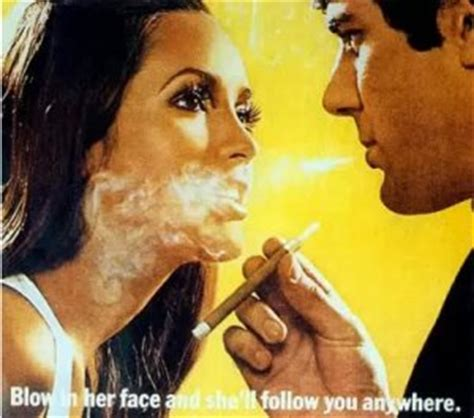 woman blowing smoke into face picture 1