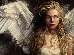 brown hair blue eyes sad angel picture 7