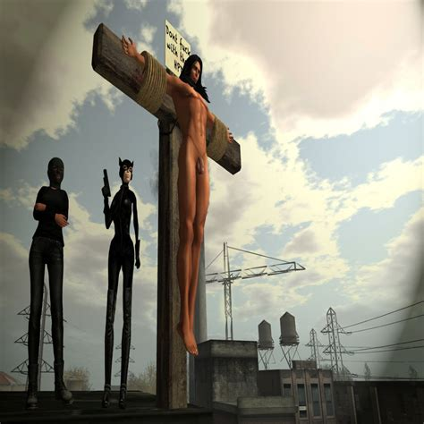 women crucified picture 2