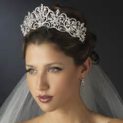 bride hair styles with tiara picture 1