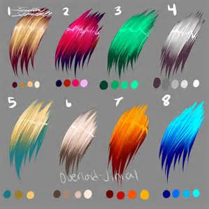 anime hair color picture 6