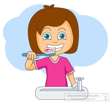 brushing teeth clipart picture 1