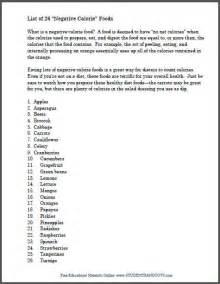 complete list recipes negative calorie foods diet picture 13