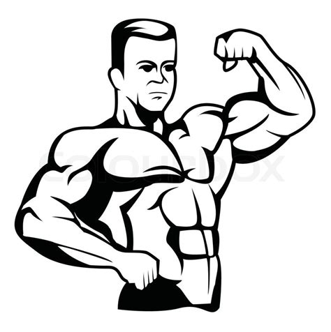 cartoon drawing of muscle man at beach picture 11