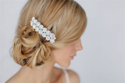 crystal flower hair clips picture 5
