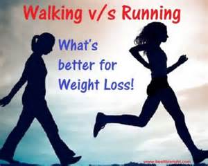 walking vs running in weight loss picture 1