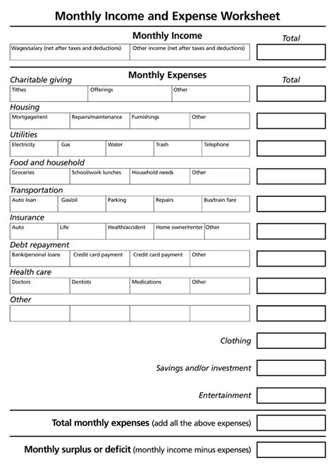 home business expense journal worksheet picture 5