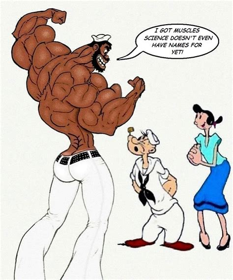 cartoon drawing of muscle man at beach picture 17
