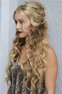 crimped hair down prom styles picture 2