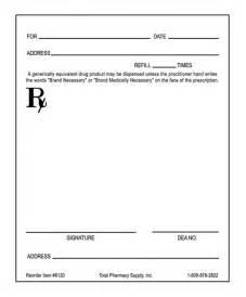 blank prescription pad picture 5