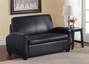 black leather sofa sleepers picture 3