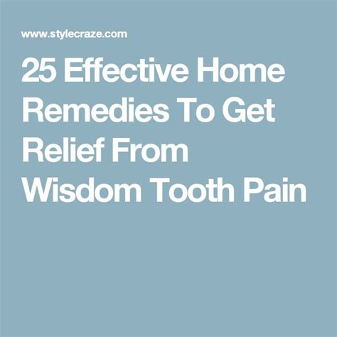 wisdom tooth pain relief picture 17