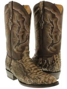 anaconda snake skin design mens western cowboy s picture 5