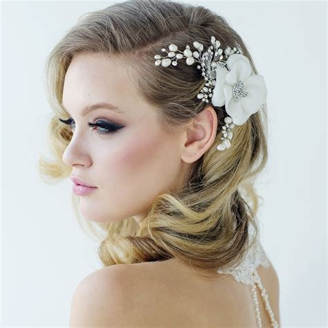 crystal flower hair clips picture 10