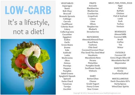 list of foods low in carbs picture 1