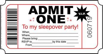 free printable sleepover party invitation picture 2