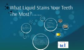 which liquid will stain your h the most picture 1