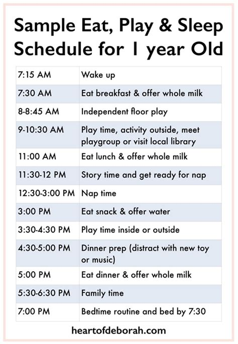 sleep schedule for a one year old picture 1