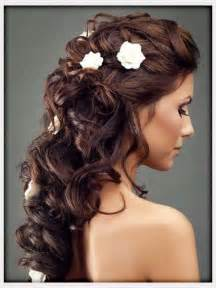 bridal hair styles with flowers picture 2
