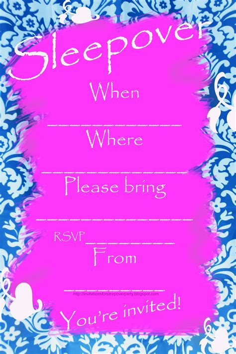 invitations for sleepover birthday party picture 10