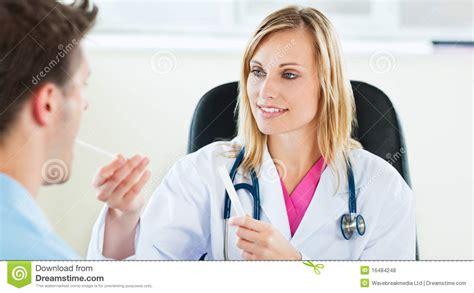 female takes male sperm sample picture 3