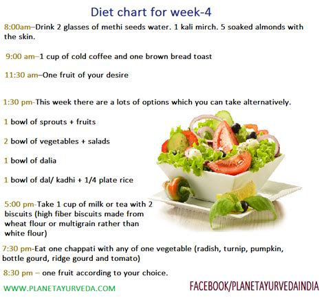 ayurvedic weight loss diet chart picture 1