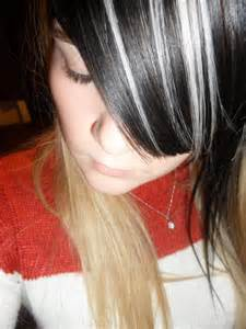blonde hair and black highlights picture 3
