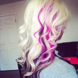blonde brown and pink hair picture 1