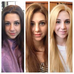 coloring hair from blonde to brown picture 15