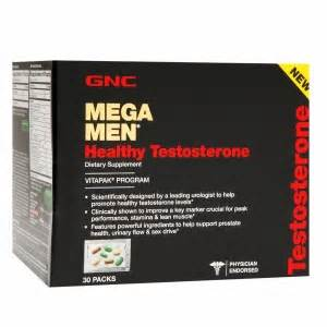 gnc mega men healthy testosterone vitapak stacked with picture 2