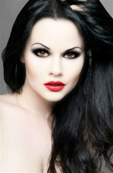 black hairplement pale skin picture 13