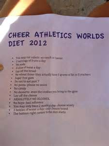 cheerleader diet picture 1