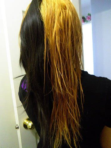 bleaching and dyeing hair picture 1