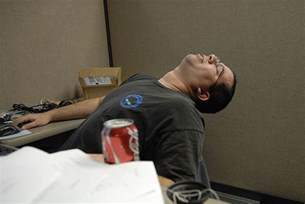 falling asleep at the desk picture 2