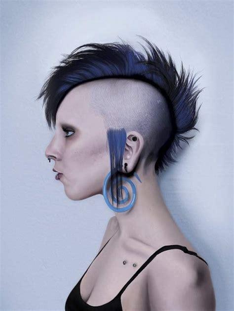 woman shaving their hair picture 2