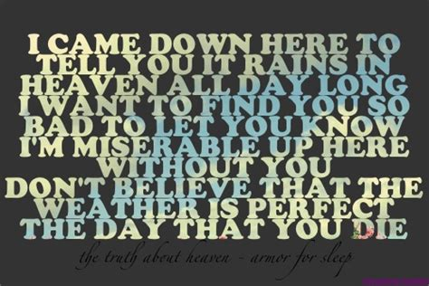lyrics to armor for sleep picture 2
