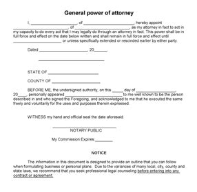 joint power of attorney form picture 1