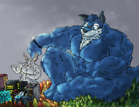 furry.muscle cock growth picture 5